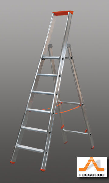 Poeschco ladders en trappen machinehandel smidsvuren for Eisen trap